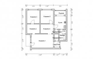 Серия КОПЭ. Перепланировка (2). Трёхкомнатная квартира (вар. 1)