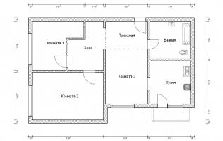 Серия КОПЭ. Перепланировка (1). Трёхкомнатная квартира (вар. 2)
