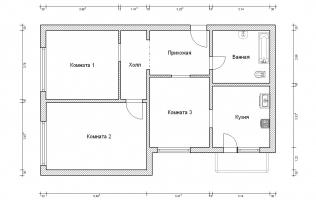 Серия КОПЭ. Перепланировка (4). Трёхкомнатная квартира (вар. 2)