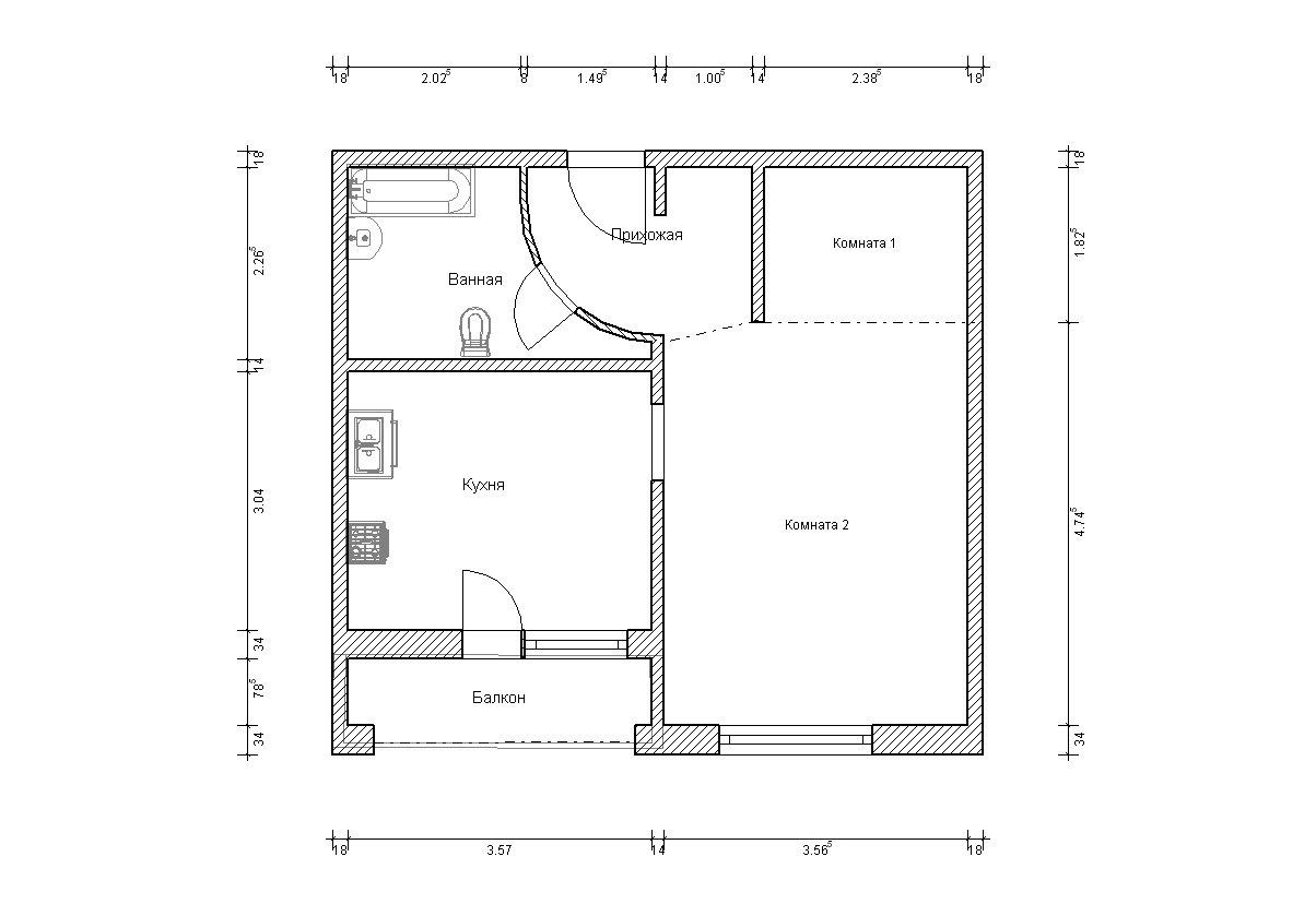 Дома серии и-1723. варианты перепланировки..