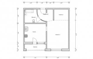 Серия И-1723. Перепланировка (2). Однокомнатная квартира