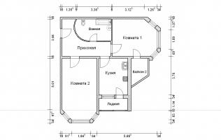 Серия И-1723. Перепланировка. Двухкомнатная квартира (вар. 2)