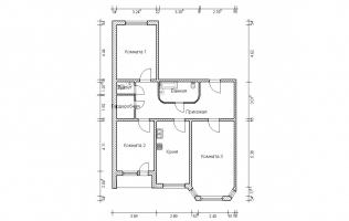 Серия И-1723. Перепланировка. Трёхкомнатная квартира (вар. 3)