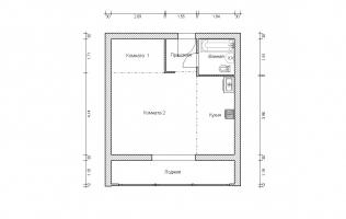 Серия II-68. Перепланировка (1). Однокомнатная квартира (вар. 1)
