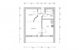 Серия II-68. Перепланировка (4). Однокомнатная квартира (вар. 1)