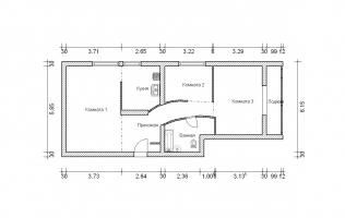 Серия II-68. Перепланировка (3). Трёхкомнатная квартира