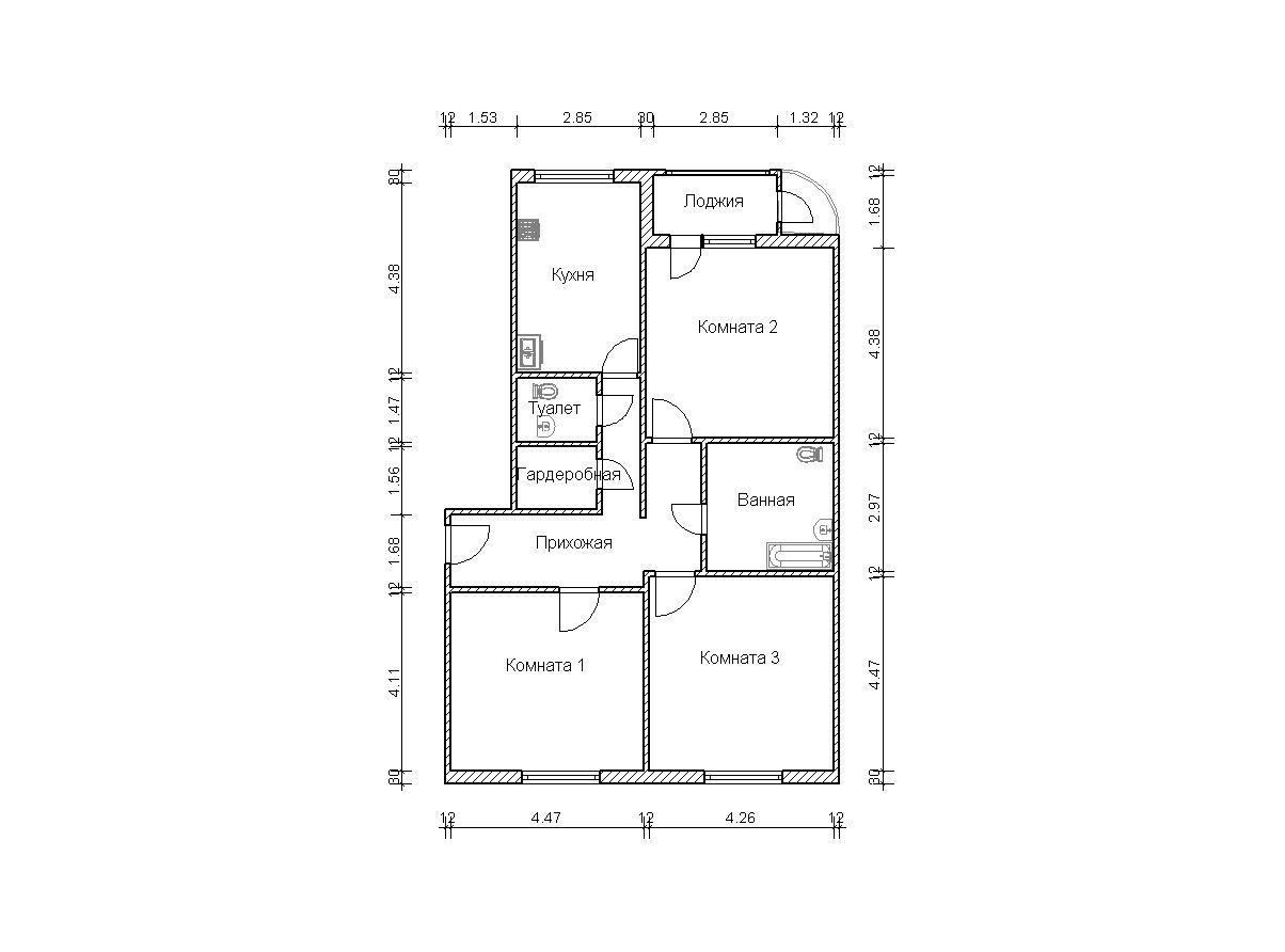 Размеры маленького балкона в серии п111м..