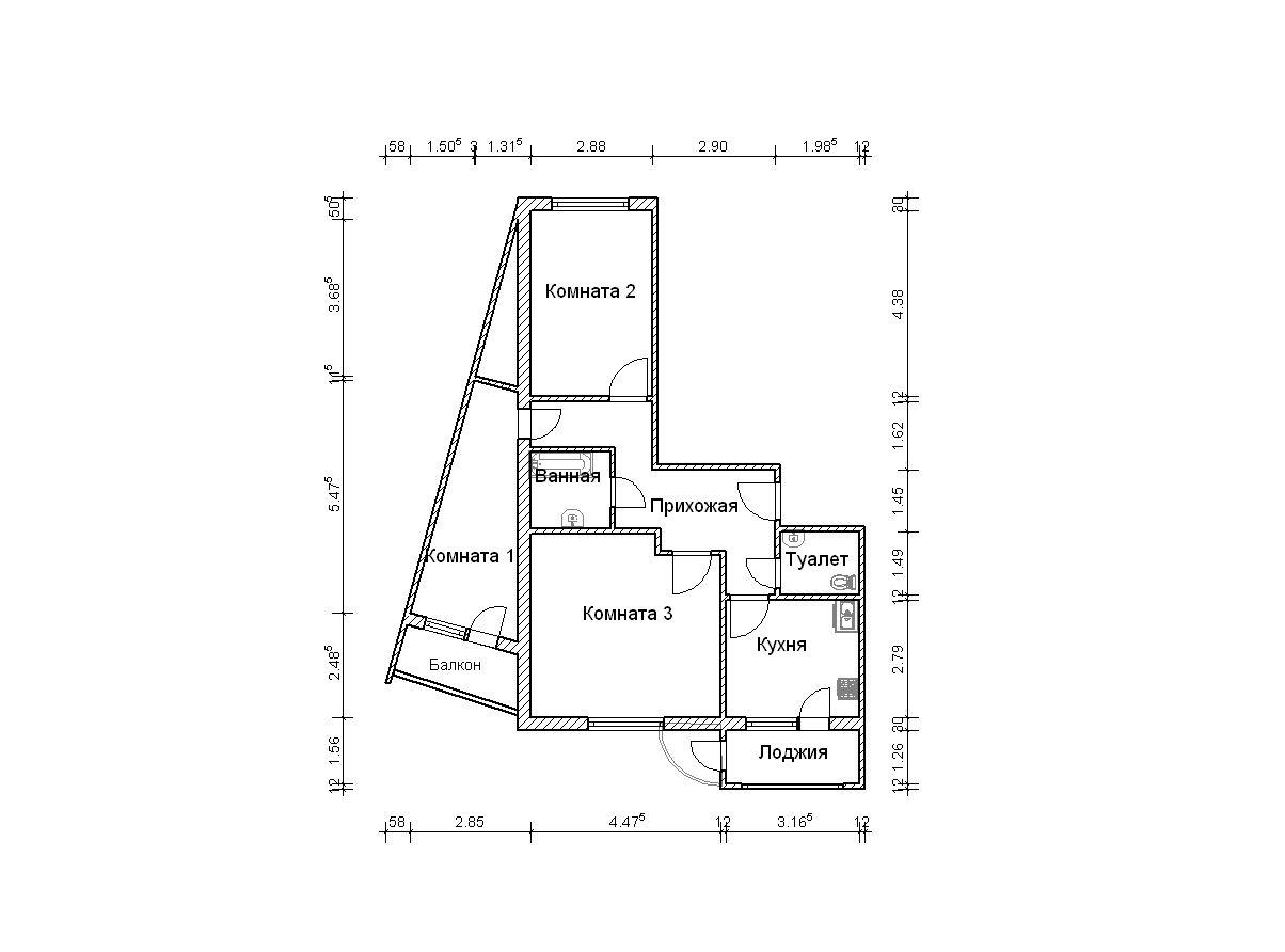 3-я трехкомнатная квартира п-111м - трехкомнатные квартиры п.