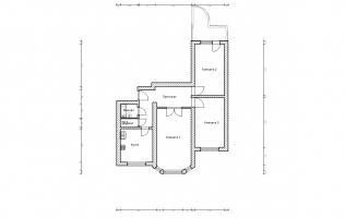 Серия П-3М. План. Трёхкомнатная квартира (вар. 2)