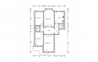 Серия П-3М. План. Четырёхкомнатная квартира (вар. 1)