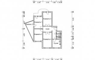 Серия П-3М. План. Четырёхкомнатная квартира (вар. 2)