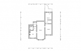 Серия П-3М. Перепланировка (1). Трёхкомнатная квартира (вар. 2)