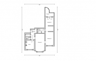 Серия П-3М. Перепланировка (2). Трёхкомнатная квартира (вар. 2)