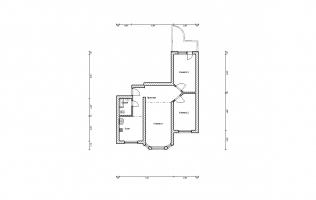 Серия П-3М. Перепланировка (4). Трёхкомнатная квартира (вар. 2)