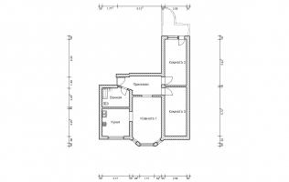 Серия П-3М. Перепланировка. Трёхкомнатная квартира (вар. 4)