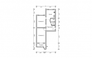 Серия П-44. Перепланировка (2). Двухкомнатная квартира (вар. 2)