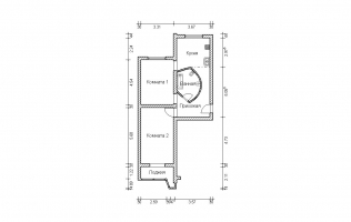 Серия П-44. Перепланировка (3). Двухкомнатная квартира (вар. 2)