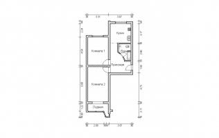 Серия П-44. Перепланировка (4). Двухкомнатная квартира (вар. 2)