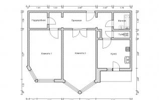 Серия П-44М. План. Двухкомнатная квартира