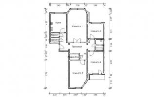 Серия П-44М. План. Четырёхкомнатная квартира