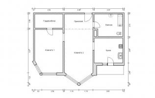 Серия П-44М. Перепланировка (1). Двухкомнатная квартира