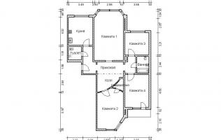 Серия П-44М. Перепланировка (1). Четырёхкомнатная квартира