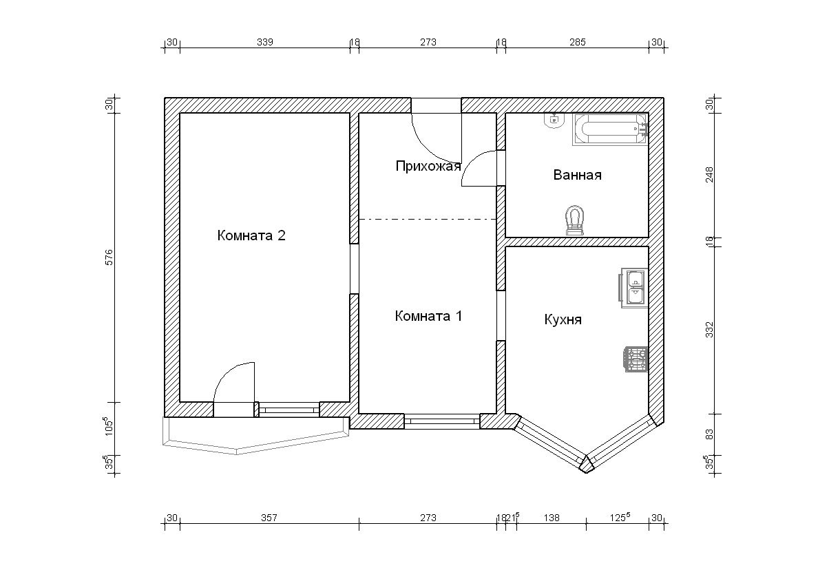 Размеры балкона п44т линейка. - дизайнерские решения - катал.