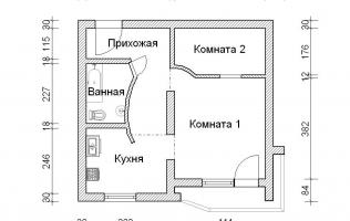 Серия П-44Т. Перепланировка (5). Однокомнатная квартира