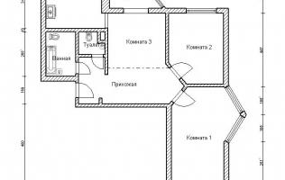 Серия П-44Т. Перепланировка (2). Трёхкомнатная квартира