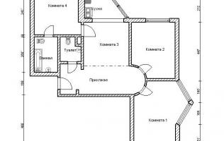 Серия П-44Т. Перепланировка (3). Трёхкомнатная квартира