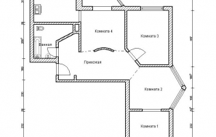 Серия П-44Т. Перепланировка (4). Трёхкомнатная квартира