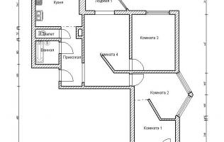 Серия П-44Т. Перепланировка (5). Трёхкомнатная квартира
