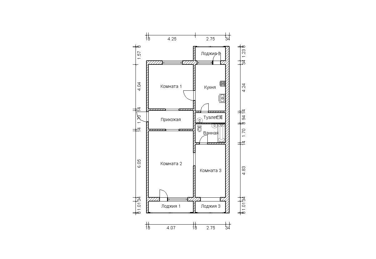 Серия дома п 46 балкон. - пластиковые окна rehau - каталог с.