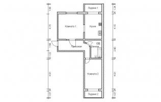 Серия П-46М. Перепланировка (2). Двухкомнатная квартира (вар. 1)